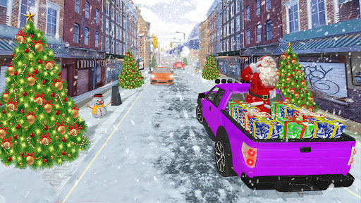 Santa Claus Car Driving 3d - New Christmas Games screenshot 4