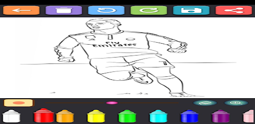 Coloring Soccer Players screenshot 2