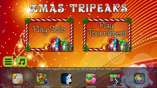 Xmas TriPeaks, card solitaire, tournament edition screenshot 5