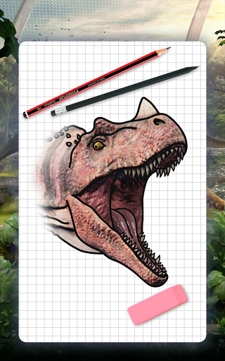 How to draw dinosaurs. Step by step lessons screenshot 12