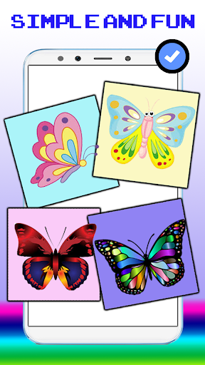 Cute Butterfly Pixel Art Coloring By Number screenshot 1