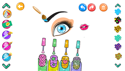 Pages Make Up Coloring Book Glitter screenshot 1