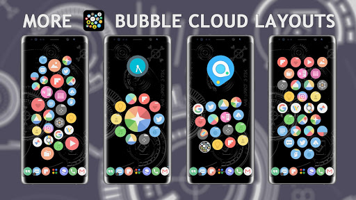 Bubble Cloud Widgets + Folders for phones/tablets screenshot 2