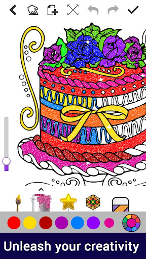 Dot to Dot to Glitter Coloring:Adult Coloring Book screenshot 3