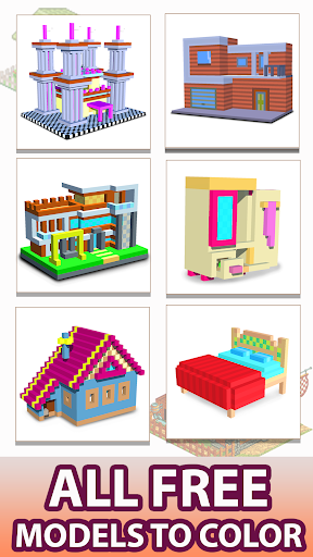 House Voxel Paint by Number screenshot 1