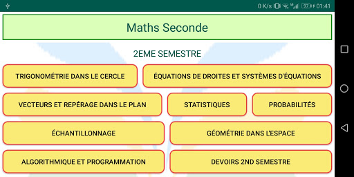 Maths Seconde screenshot 10