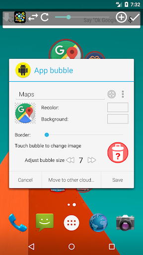 Bubble Cloud Widgets + Folders for phones/tablets screenshot 13