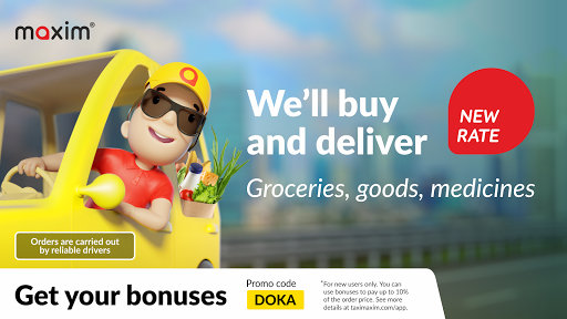maxim — order taxi, food and groceries delivery screenshot 1
