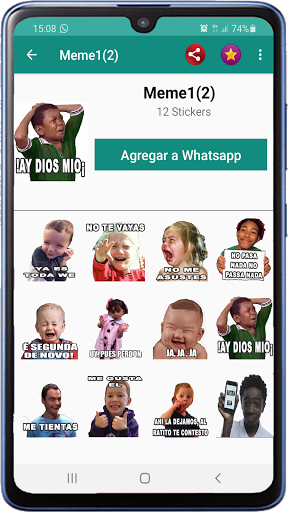 Memes with phrases Spanish Stickers WAStickerApps screenshot 3