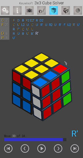 3x3 Cube Solver screenshot 1