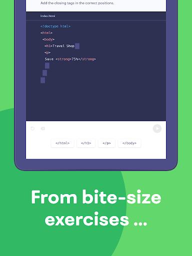 Mimo: Learn coding in JavaScript, Python and HTML screenshot 9