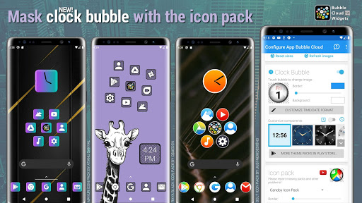 Bubble Cloud Widgets + Folders for phones/tablets screenshot 3