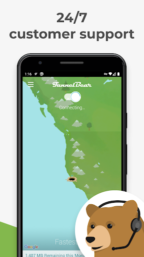 TunnelBear VPN 屏幕截图 5