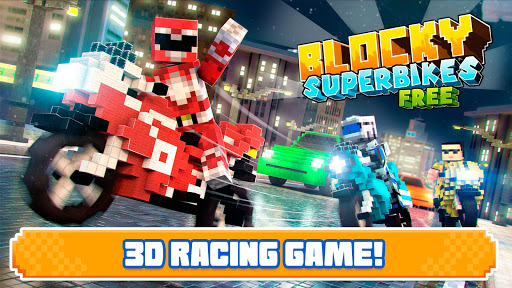Blocky Superbikes Race Game - Motorcycle Challenge 屏幕截图 12
