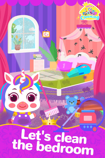 Pony Home Cleaning-House Cleaning Games for Girls screenshot 1
