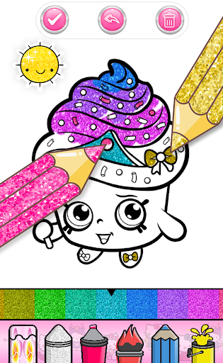 Cupcakes Coloring Book Pattern screenshot 3
