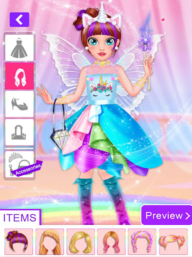 Unicorn Fashion Dress Up Makeover screenshot 4