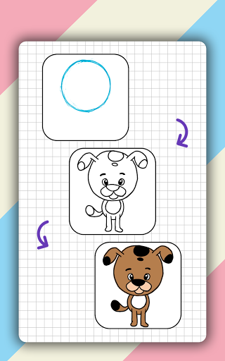 How to draw cute animals step by step, lessons screenshot 16
