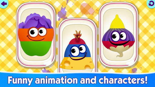 Funny Food educational games for kids toddlers 屏幕截图 2