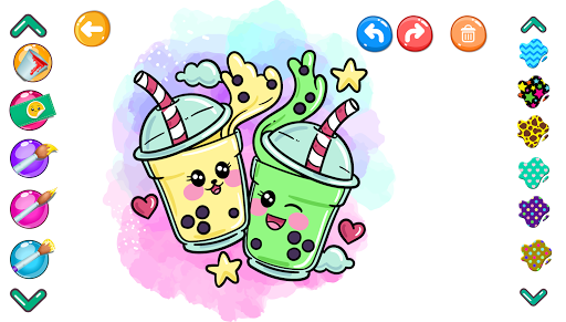 Cute Coloring Book Glitter screenshot 8