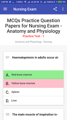 Staff Nurse Exam screenshot 3