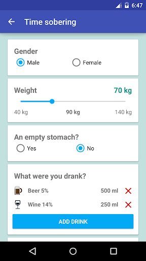 How much alcohol to drink? screenshot 4