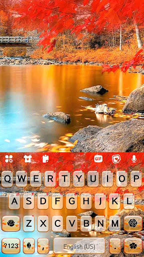 Autumn Lake Keyboard Background screenshot 5