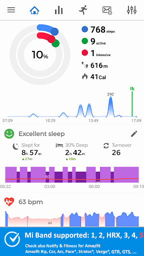 Notify & Fitness for Mi Band 屏幕截图 1