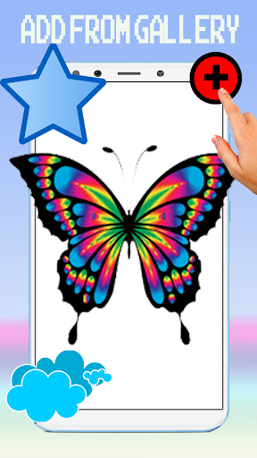 Cute Butterfly Pixel Art Coloring By Number screenshot 5