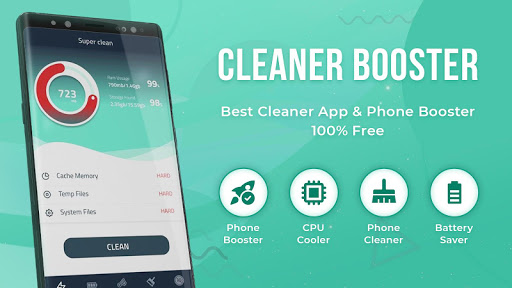 Cleaner Booster-Clear cache & memory, junk cleaner screenshot 1