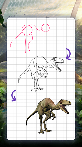 How to draw dinosaurs. Step by step lessons screenshot 6