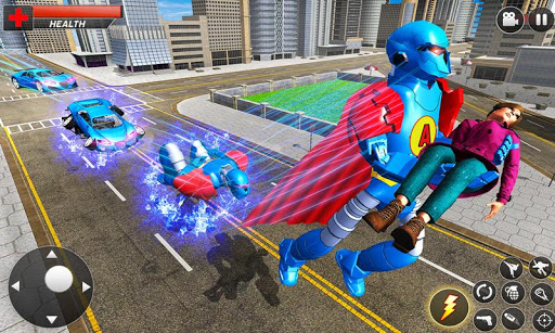 Flying Hero Robot Transform Car screenshot 2