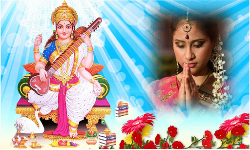 God Saraswati Maa Photo Frames screenshot 2