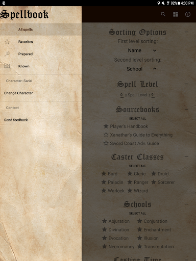 D&D Spellbook 5e screenshot 12