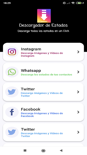 Download videos, images and statuses screenshot 1