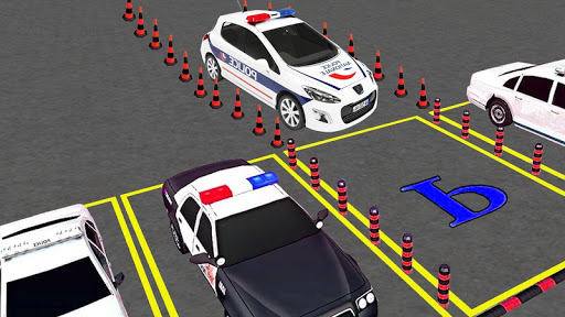 Spooky Police Car Parking Games screenshot 5