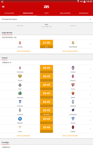 AS - News and sports results. screenshot 7