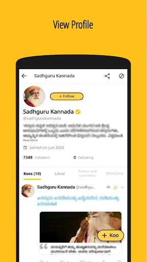 Koo: Connect with Indians in Indian Languages 🙂 screenshot 7