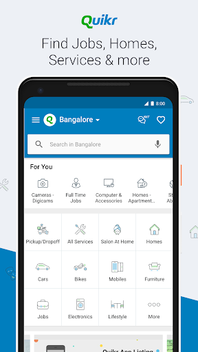Quikr - Search Jobs, Mobiles, Cars, Home Services screenshot 1