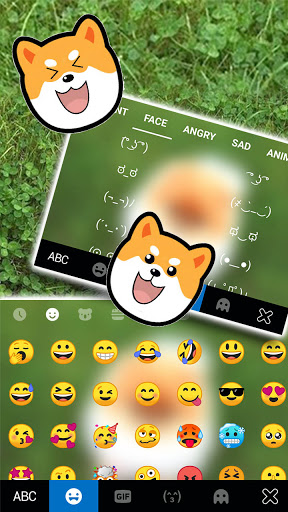 Cute Puppy Pom Keyboard Background screenshot 3