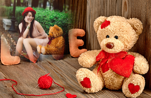 Teddy Bear Photo Frame captura de pantalla 1