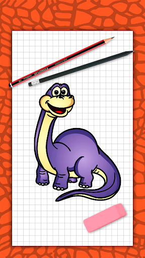 How to draw cute dinosaurs step by step, lessons screenshot 1