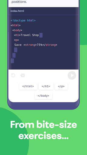 Mimo: Learn to code in HTML, JavaScript, Python screenshot 2