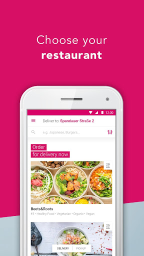 foodora screenshot 1