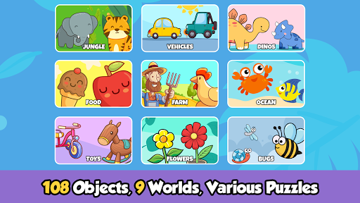Toddler Puzzles for Kids screenshot 1