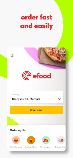 efood delivery screenshot 1