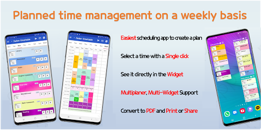 Daily Schedule - easy timetable, simple planner screenshot 1