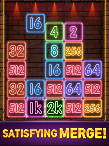 Drop Number : Neon 2048 capture d ecran 19