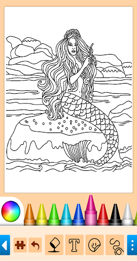 Coloring game for girls and women screenshot 10