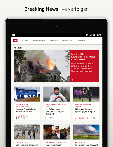 SRF News - Nachrichten, Videos und Livestreams screenshot 18